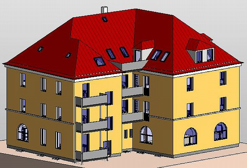 Hauptstraße 308 - Hofansicht (Projektbild)
